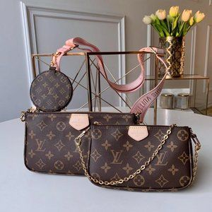 Louis Vuitton Multi Pochette Monogram Pink